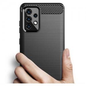 قاب محافظ ژله ای سامسونگ  Galaxy A52 Rugged Armor Fiber Carbon