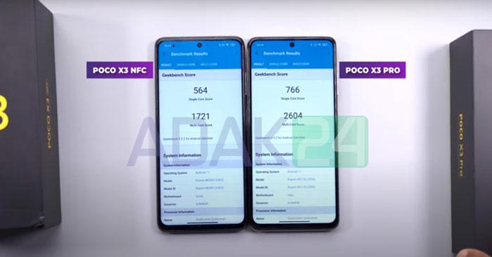 مقایسه سرعت و عملکرد پوکو X3 Pro با پوکو X3 nfc