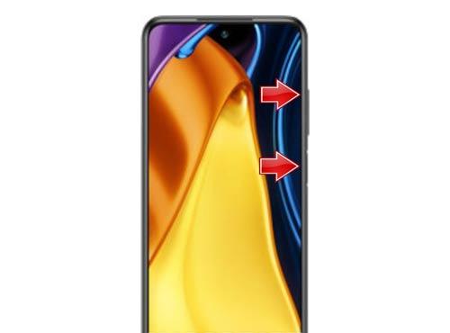 نحوهی ریست فکتوری در گوشی Poco M3 Pro 5G با استفاده از دکمهها