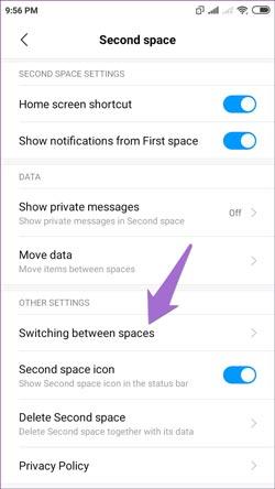 نحوه ایجاد فضای دوم (Second Space) در گوشی Redmi Note 9 Pro