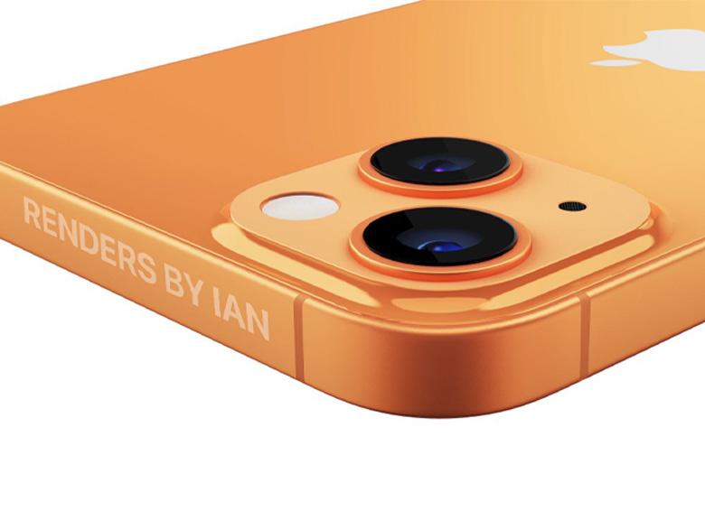 iPhone 13 در رنگ نارنجی