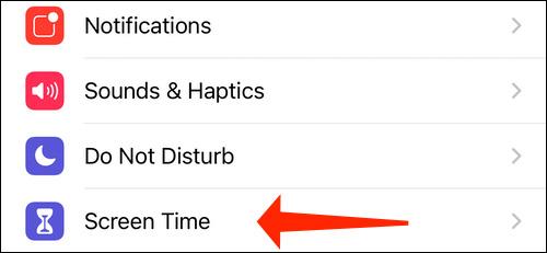 آموزش غیرفعال کردن اعلانهای برنامه Shortcuts در آیفون بخش Screen Time