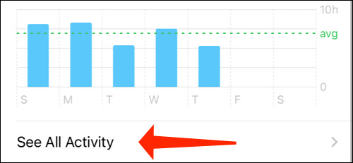 آموزش غیرفعال کردن اعلانهای برنامه Shortcuts در آیفون گزینه See All activity