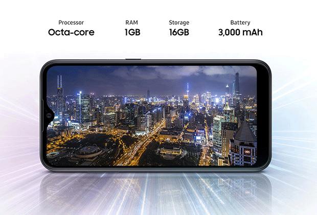 گوشی سامسونگ گلکسی A01 Core مجهز به باتری 3000 میلی آمپری