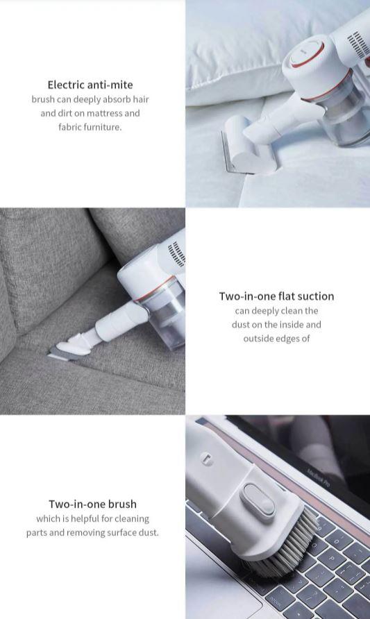 جاروبرقی شارژی شیائومی مدل V9 مجهز به سری برقی ضدکنه