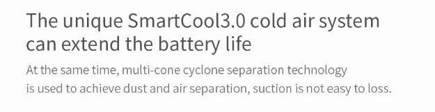 جاروبرقی شارژی شیائومی مدل Dreame V9 مجهز به سیستم خنک کننده Smartcool 3.0