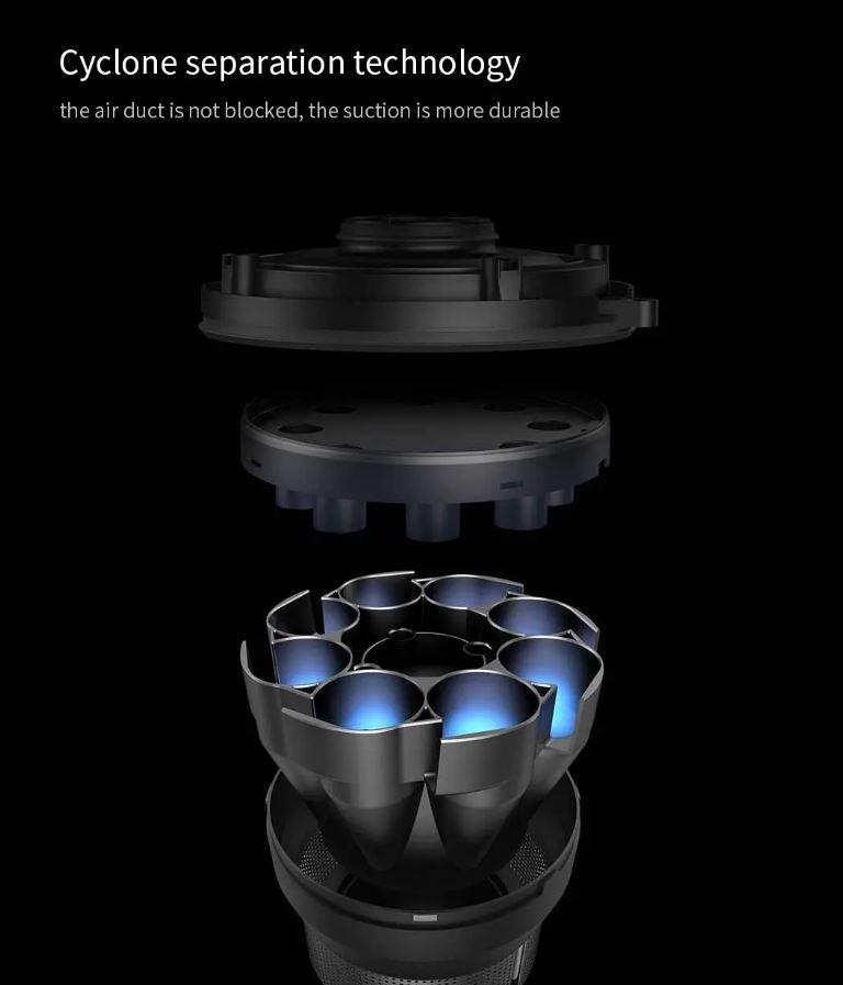 جاروبرقی شارژی شیائومی مدل Dreame V9 دارای قابلیت تکنولوژی جداسازی سیلکون