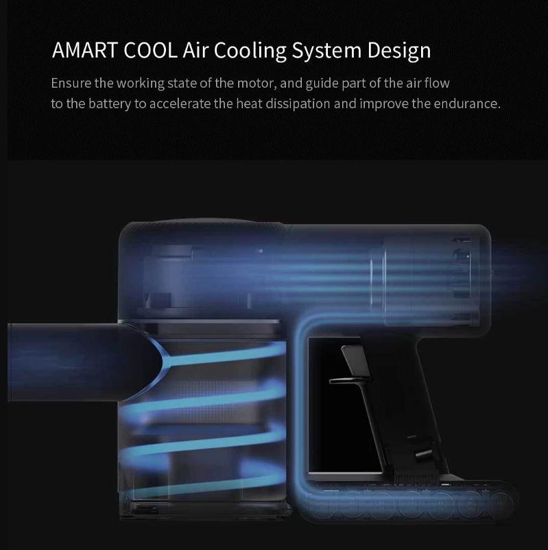 جاروبرقی شارژی شیائومی مدل Dreame V9 مجهز به سیستم خنک سازی هوشمند
