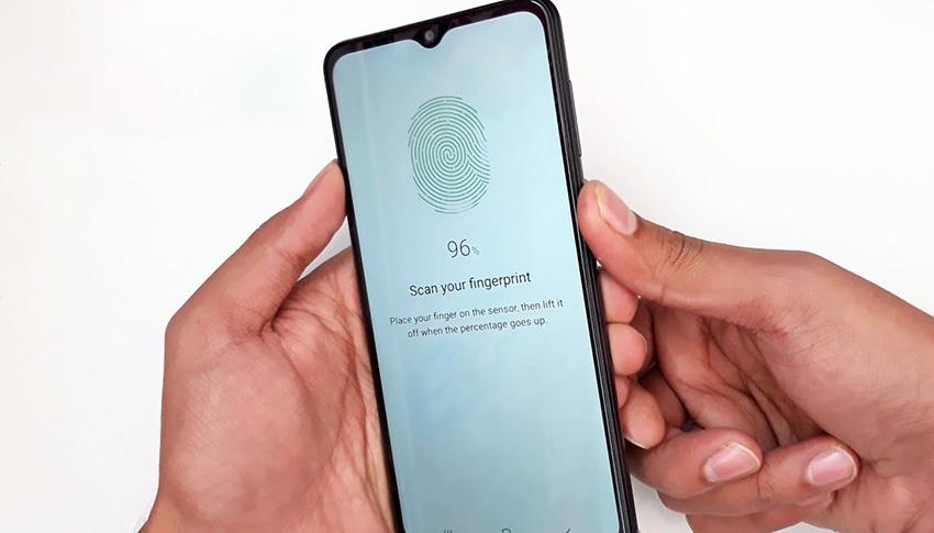 اضافه کردن اثر انگشت در Samsung Galaxy A12