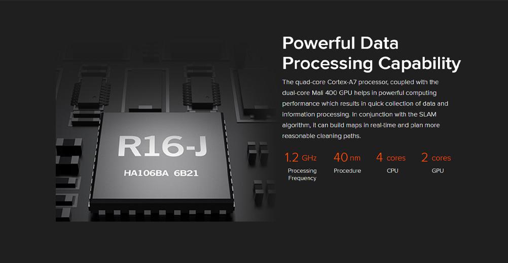 جاروبرقی رباتی Mop p مجهز به پردازنده چهار هستهای Cortex-A7 و گرافیک دو هستهای Mali 400