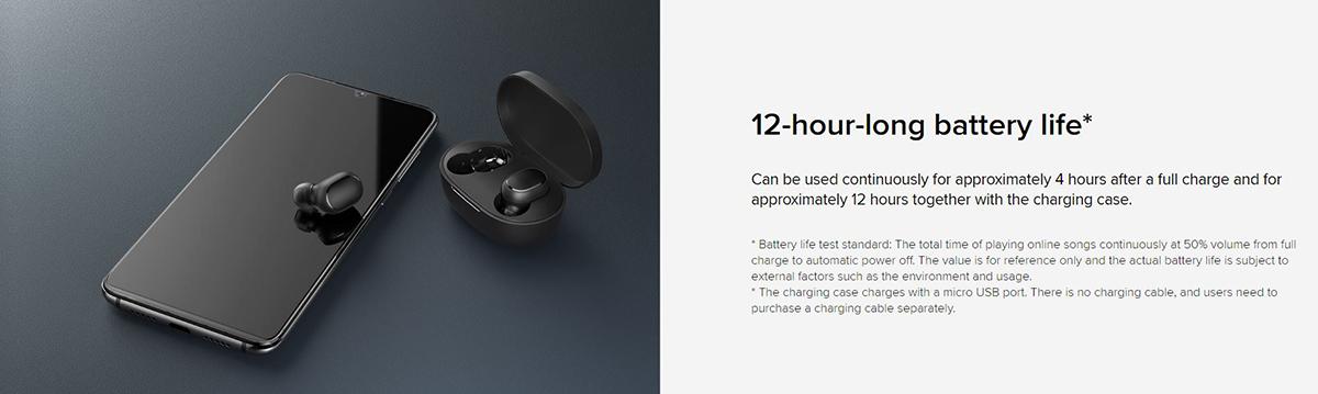هدفون Mi True Wireless Earbuds Basic 2 مجهز به باتری با دوام 12 ساعت