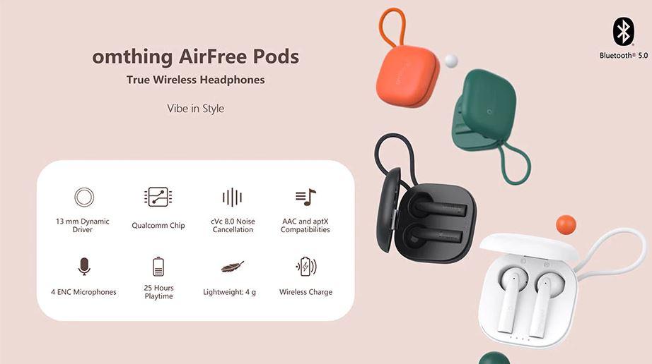 ویژگی و مشخصات هندزفری بلوتوث Omthing AirFree Pods