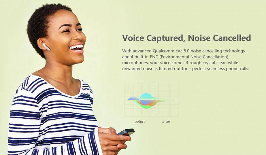 هندزفری بلوتوث Omthing AirFree Pods با قابلیت مکالمه با کیفیت