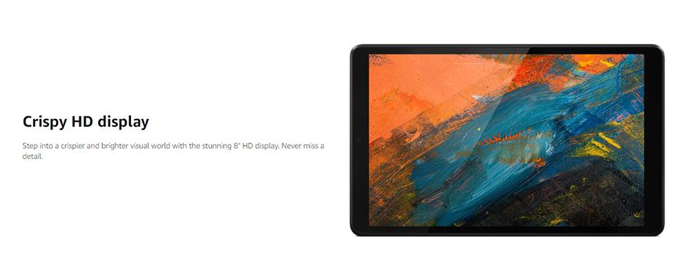 تبلت لنوو Tab M8 مجهز به صفحه نمایش شفاف 8اینچی