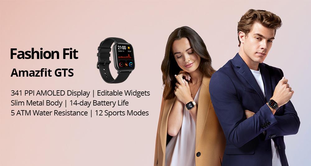مشخصات ساعت هوشمند Amazfit Gts
