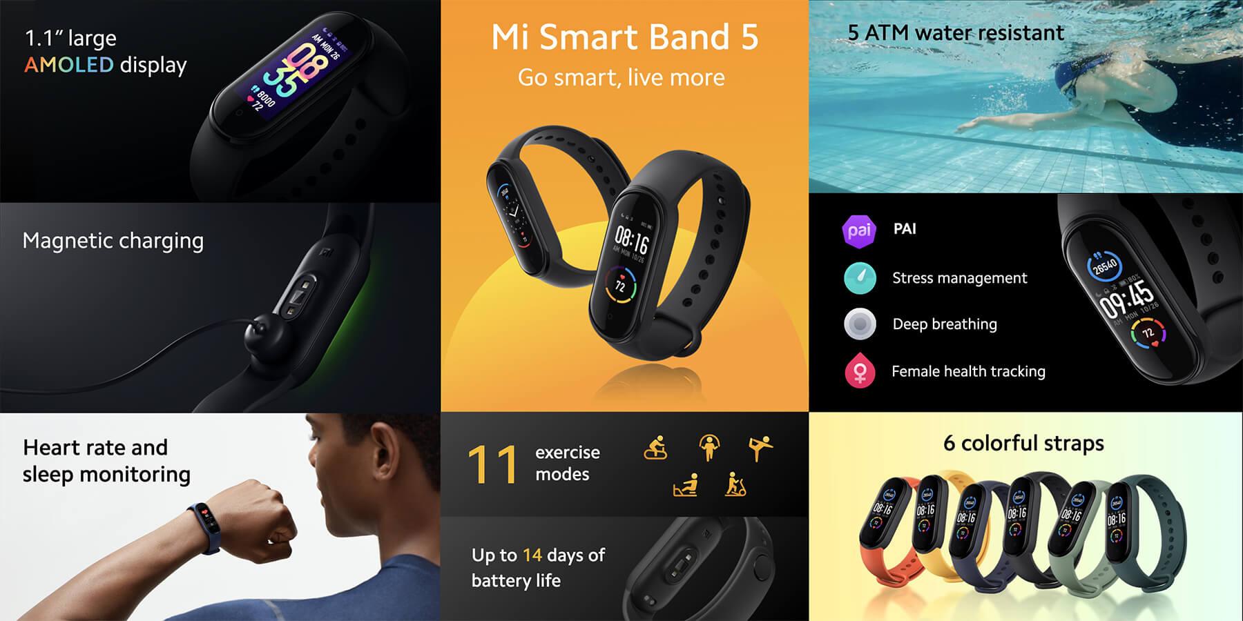 مشخصات Xiaomi Mi Band 5