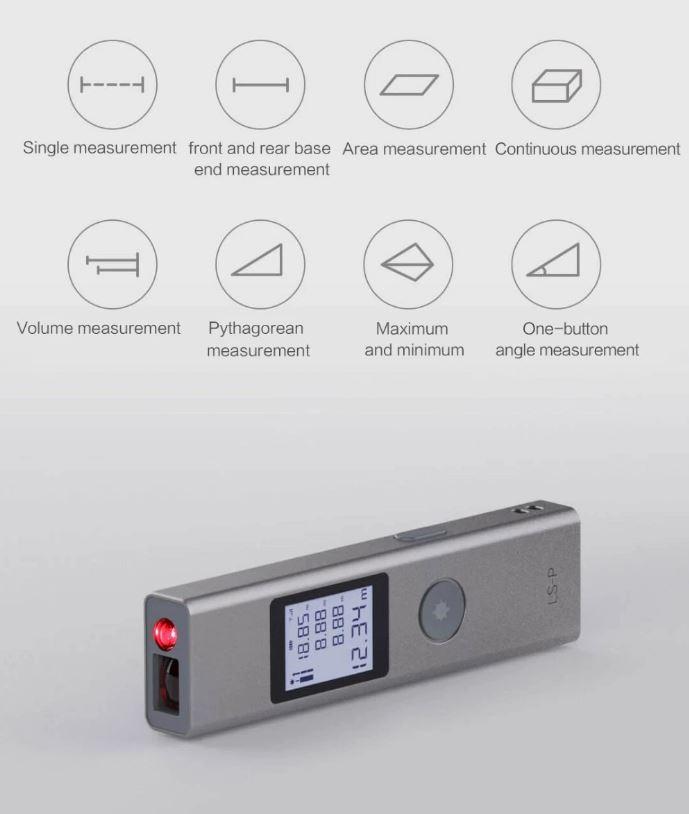 متر لیزری شیائومی ATuMan LS-P با امکان محاسبه زاویه با یک دکمه