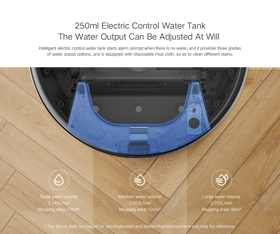 جاروبرقی رباتی هوشمند شیائومی مدل Lydsto R1 مجهز به مخزن آب 250 میلیلیتری با کنترل برقی