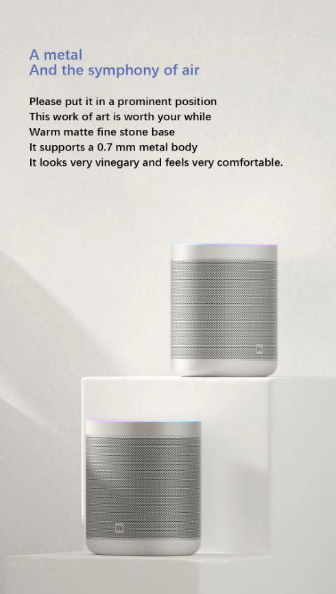 اسپیکر هوشمند بلوتوثی شیائومی مدل mi Art AI Smart L09G با ظاهری زیبا و راحت