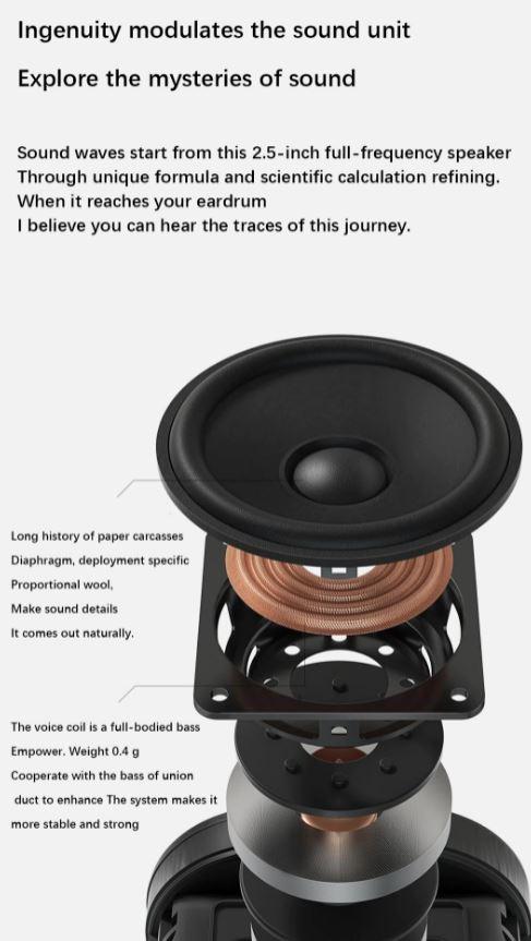 پخش امواج صدا با فرمول منحصر به فرد در اسپیکر هوشمند بلوتوثی شیائومی مدل mi Art AI Smart L09G