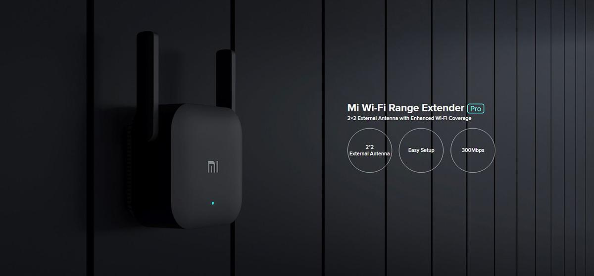 تقویت کننده مودم Mi WiFi Amplifier Pro مجهز به آنتن 2در2