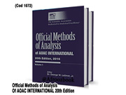 کد 1072- AOAC Official Methods of Analysis of AOAC International 2016