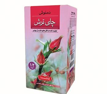 دمنوش گیاهی چای ترش پوشش دار شاهسوند بسته 12 عددی