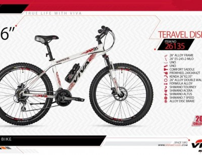 دوچرخه کوهستان ویوا مدل تراول کد 26135 سایز 26 -  VIVA TRAVEL DISK17- 2019 colection