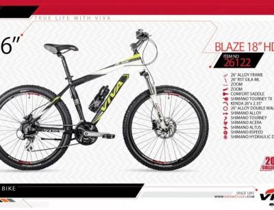 دوچرخه کوهستان ویوا مدل بلیز کد 26122 سایز 26 -  VIVA BLAZE18 HD - 2019 collection
