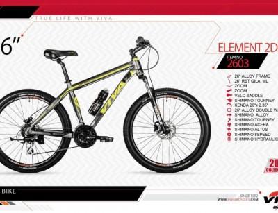 دوچرخه کوهستان ویوا مدل المنت کد 2603 سایز 26 -  VIVA ELEMENT 2DISC - 2019 collection