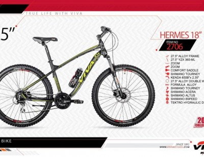 دوچرخه کوهستان ویوا مدل هرمس کد 2706 سایز 27.5 -  VIVA HERMES18- 2019 collection