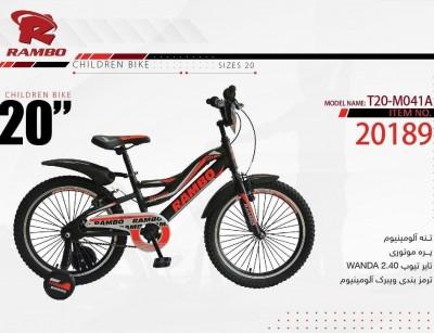دوچرخه بچه گانه رامبو کد 20189 سایز 20 -  RAMBO T20-M041A
