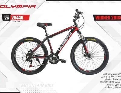دوچرخه المپیا وینر دیسکی کد 26440 سایز 26 - OLYMPIA WINNER 2DISC