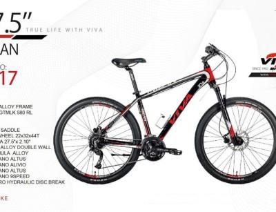 دوچرخه ویوا مدل میلان کد 2717 سایز 27.5 -  VIVA MILAN