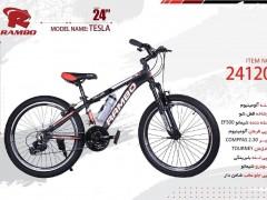 دوچرخه رامبو تسلا کد 24120 سایز 24 -  RAMBO TESLA