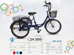سه چرخه الکس مدل ریلکس سایز 24 کد 24309 - ALEX RELAX
