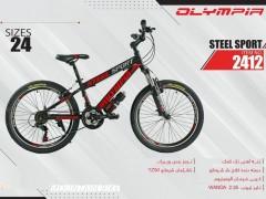 دوچرخه المپیا استیل اسپورت کد 2412 سایز 24 -   OLYMPIA STEEL SPORT