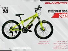 دوچرخه المپیا استیل اسپورت دیسکی کد 2432 سایز 24 -   OLYMPIA STEEL SPORT DISC