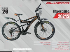 دوچرخه المپیا تایتانیک دیسکی کد 26245 سایز 26 -   OLYMPIA TITANIC 2 DISC