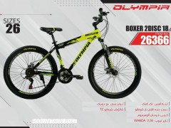 دوچرخه المپیا بوکسر 18 دیسکی کد 26366 سایز 26 -   OLYMPIA BOXER 2DISC 18