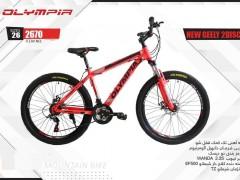 دوچرخه المپیا نیوجیلی دیسکی کد 2670 سایز 26 - OLYMPIA NEW GEELY 2DISC