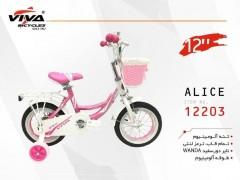 دوچرخه ویوا آلیس سایز 12 کد 12203 تنه آلومینیومی - VIVA ALICE
