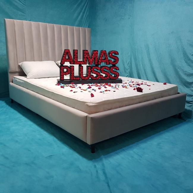 تخت خواب دونفره مدل آلما سایز 140×200 سانتی متر