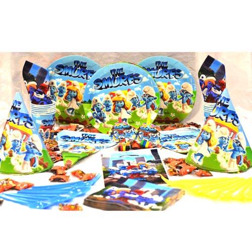 تم تولد دیزنی پکیج ۱۰۸ عددی اسمورف Smurfs محصول شرکت Party Land Junior وارداتی