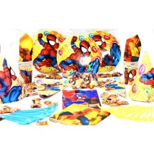 تم تولد دیزنی پکیج ۱۰۸ عددی اسپایدرمن Spiderman محصول شرکت Party Land Junior وارداتی