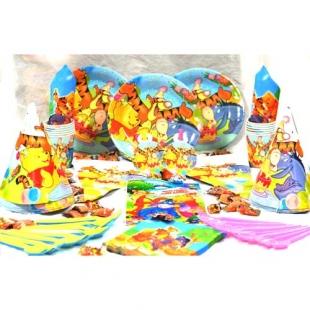 پکیج تم تولد دیزنی ۱۰۸ عددی پو  و دوستان Pooh & Friends محصول شرکت Party Land Junior وارداتی