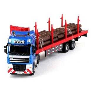 ماکت فلزی تریلی چوب بر کا دی وی KDW Log Transporter 1/50