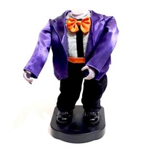 عروسک رقصنده هیولای بدون سر مدل کت بنفش