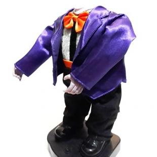 عروسک رقصنده هالووین مدل بدون سر کت طرح دار