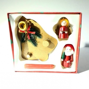 دکوری کریسمس مدل جاشمعی بابانوئل و فرشته